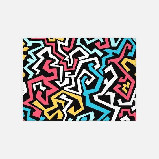 Graffiti 5'x7'Area Rug