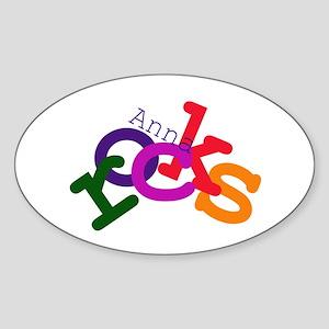 Anna Rocks Oval Sticker