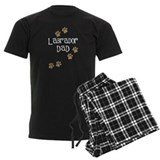 Dog lab chocolate Men's Dark Pajamas