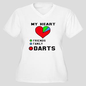 My Heart Friends, Women's Plus Size V-Neck T-Shirt