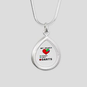 My Heart Friends, Family Silver Teardrop Necklace
