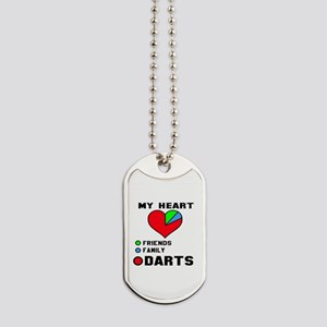 My Heart Friends, Family and Darts Dog Tags