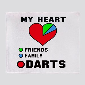 My Heart Friends, Family and Darts Throw Blanket