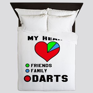 My Heart Friends, Family and Darts Queen Duvet