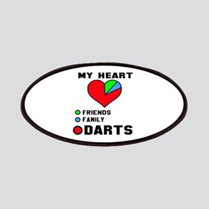 My Heart Friends, Family and Darts Patch