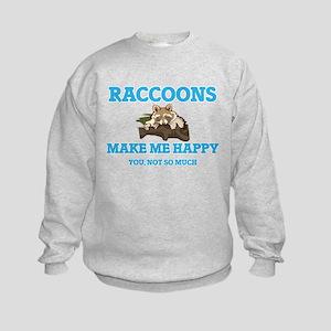 Raccoons Make Me Happy Sweatshirt