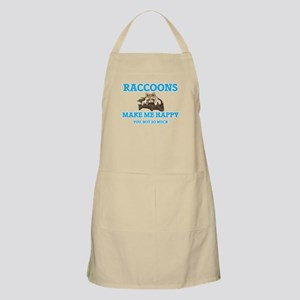 Raccoons Make Me Happy Light Apron
