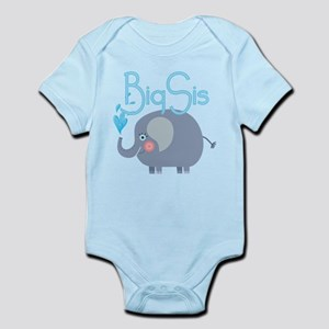 Elephant Big Sis Infant Bodysuit