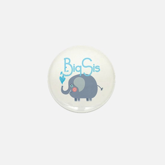 Elephant Big Sis Mini Button
