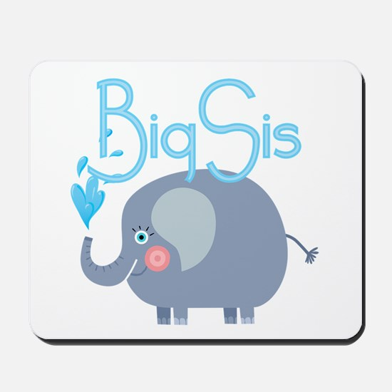 Elephant Big Sis Mousepad