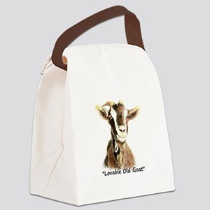Lovable Old Goat Fun Quote for Him Canvas Lunch Ba