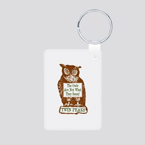 The Owls Are Not What They Aluminum Photo Keychain