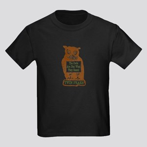 The Owls Are Not What They Seem Kids Dark T-Shirt