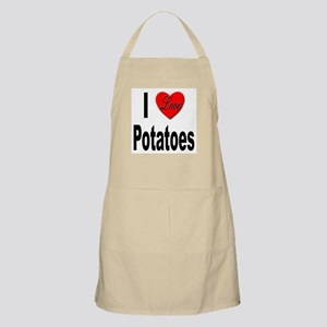 I Love Potatoes BBQ Apron