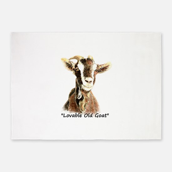 Lovable Old Goat Fun Quote for Him 5'x7'Area Rug