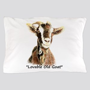 Lovable Old Goat Fun Quote for Him Pillow Case