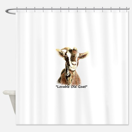Lovable Old Goat Fun Quote for Him Shower Curtain