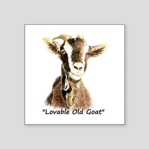 Lovable Old Goat Fun Quote for Him Sticker