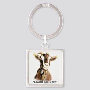Lovable Old Goat Fun Quote for Him Keychains