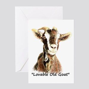 Lovable Old Goat Fun Quote for Him Greeting Cards