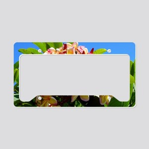 Frangipani License Plate Holder