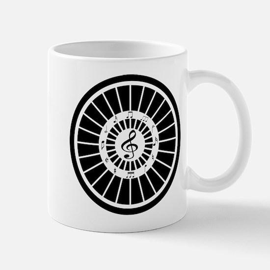 Stylish black white musical notes design Mugs