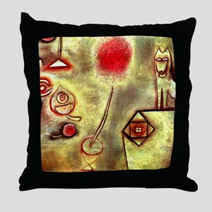 Klee - Still Life with Animal Statuet Throw Pillow