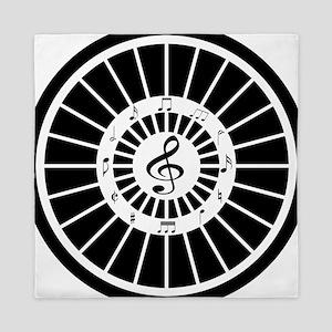 Stylish black white musical notes design Queen Duv