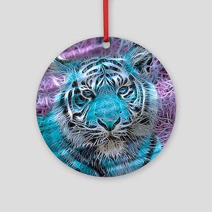 Crazy blue Tiger (C) Ornament (Round)