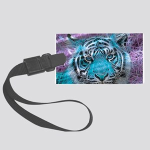 Crazy blue Tiger (C) Luggage Tag