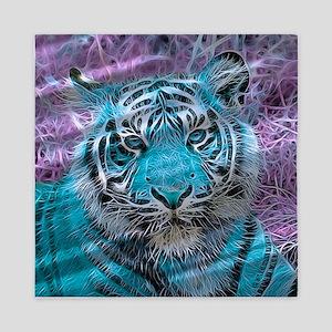 Crazy blue Tiger (C) Queen Duvet