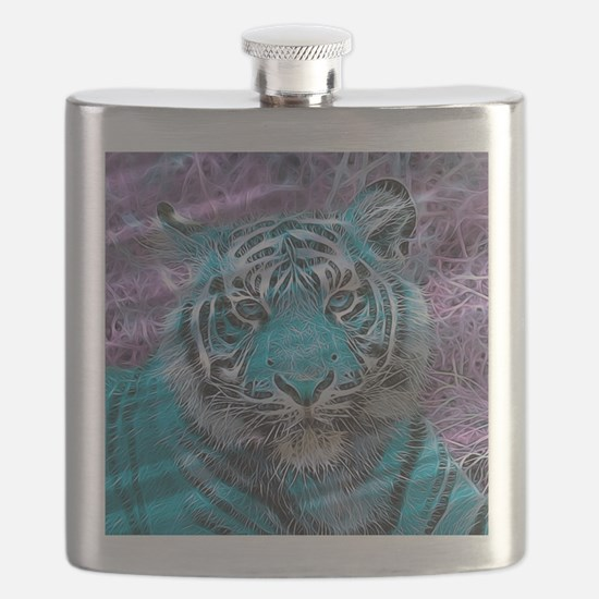Crazy blue Tiger (C) Flask