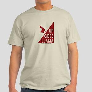Up Goes Llama (red) Light T-Shirt