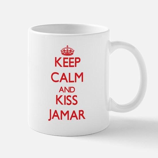 Keep Calm and Kiss Jamar Mugs