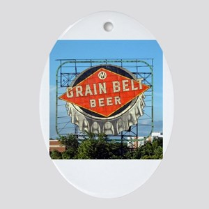 Minneapolis Grain Belt Sign Oval Ornament