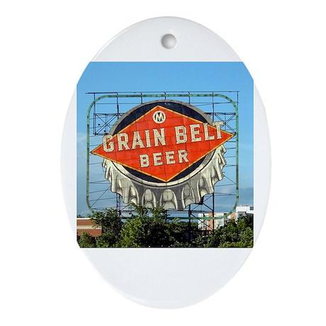 Minneapolis Grain Belt Sign Oval Ornament