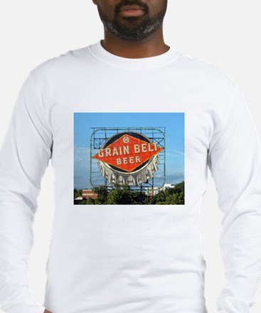 Minneapolis Grain Belt Sign Long Sleeve T-Shirt