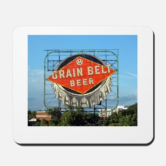 Minneapolis Grain Belt Sign Mousepad