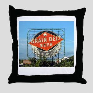 Minneapolis Grain Belt Sign Throw Pillow