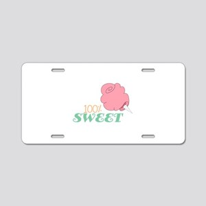 100% Sweet Aluminum License Plate