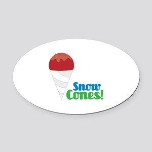 Snow Cones! Oval Car Magnet