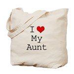 I Heart My Aunt Tote Bag