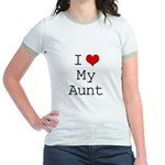 I Heart My Aunt Jr. Ringer T-Shirt
