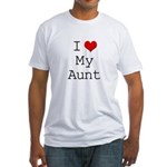 I Heart My Aunt Fitted T-Shirt