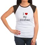 I Heart My Sister Women's Cap Sleeve T-Shirt