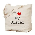 I Heart My Sister Tote Bag