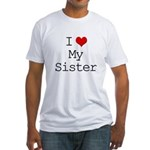 I Heart My Sister Fitted T-Shirt