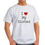 I Heart My Sister Light T-Shirt