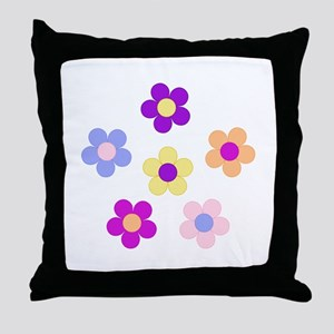 Flower Power Design Throw Pillow