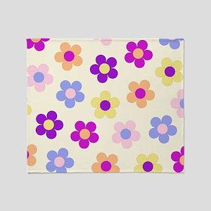 Flower Power Design Throw Blanket